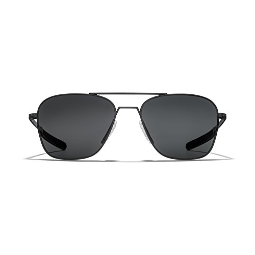 ROKA Falcon Ti Performance Polarized Aviator Sunglasses Men Women - Matte Black Frame - Carbon Polarized Lens