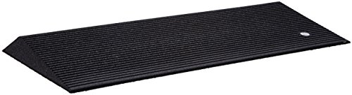 Custom Wheelchair Power (EZ-ACCESS, Rubber Threshold Ramp, Beveled, 1.5 Inch (14 Pound), Indoor or Outdoor Use, Transfer Between Levels and Surfaces With More Security and Safety, Great for Wheelchairs, Walkers, Scooters)