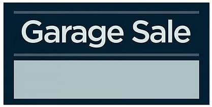 5-Pack Garage Sale 12x12 CGSignLab Classic Brown Window Cling