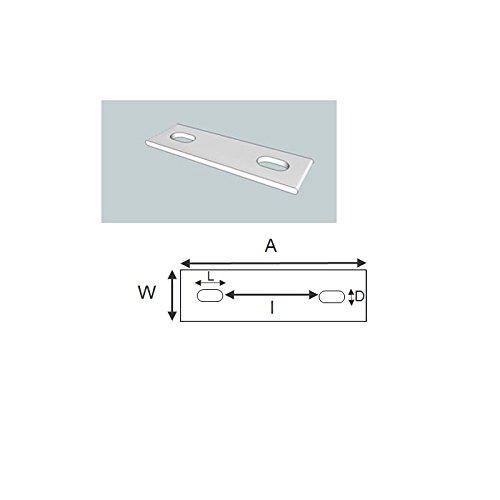 verzinkt Mild Steel Packungsgr/ö/ße: 1 22-36 mm ID Geschlitzt backing Platte f/ür M8 u-Bolzen