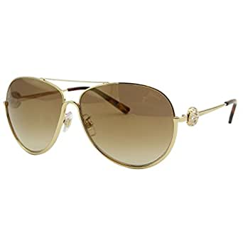 Chopard SCH-B23 Women Gold Precious Swarovski Crystals Metal Aviator Sunglasses