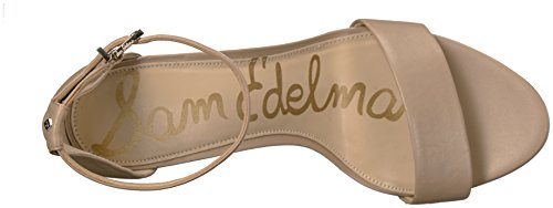 Sam Edelman Women's Yaro Heeled Sandal, Black, US Classic Nude Leather