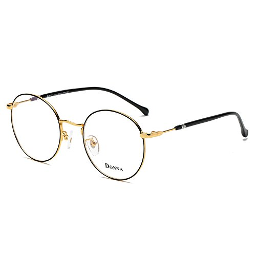 DONNA Stylish Clear Lens Women Glasses Samll Circle Round Frame Blue Light Blocking for Computer DN47-JAG