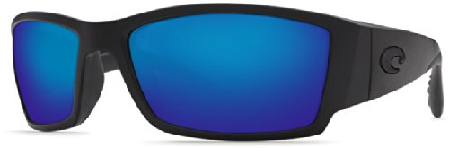 Costa Del Mar Corbina Sunglasses, Blackout, Blue Mirror 400G Lens ()