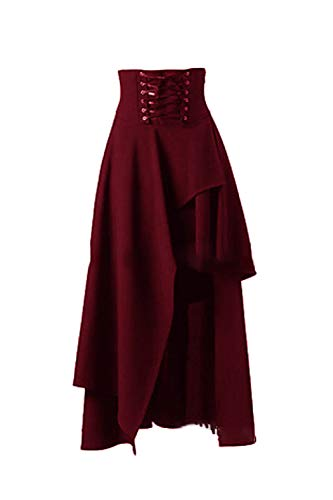 Sevozimda Metà Abbiamo Elegante Benda Irregolare Lungo Lolita Gotico Donna Vestito rrwqxP0v