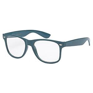 Clear Lens RX Men's Women's Nerd Glasses - Flex Frame UV400