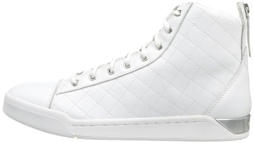 Diesel Hombres Tempus Diamond Sneaker, Blanco