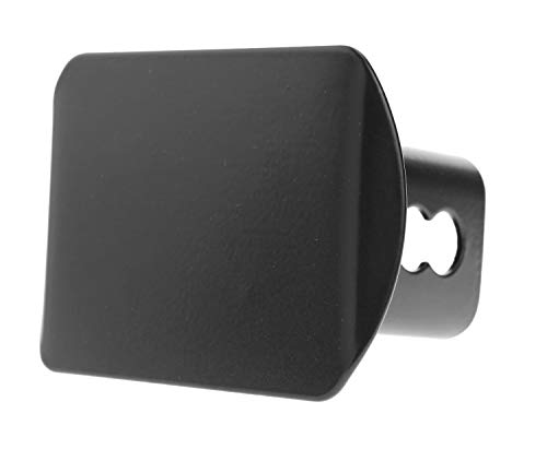 (LFPartS Blank Black Trailer Metal Hitch Tube Cover Fits 2