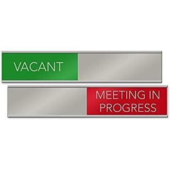 Amazon.com: Señal de Vacant/Meeting in Progress deslizante ...