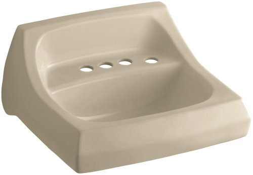 KOHLER K-2005-R-33 Kingston Wall-Mount Bathroom Sink with 4