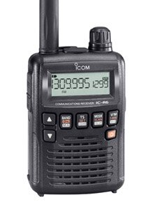 Radio Receiver Ic (Icom R6 Sport Wide Band Handheld Communications Receiver, Requires 2 x AA Batteries, Black)