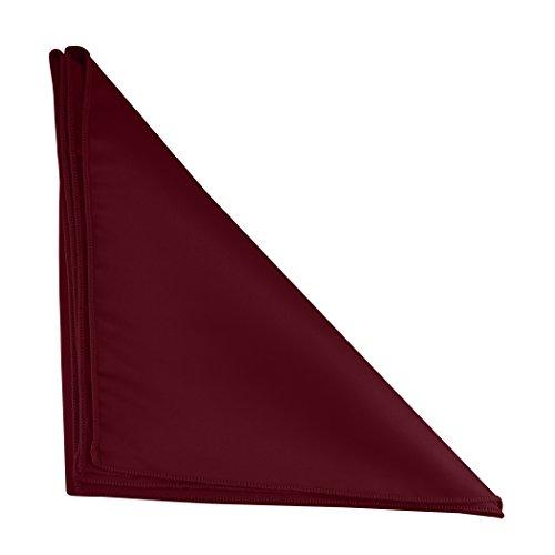Ultimate Textile -3 Dozen- Bridal Satin 20 x 20-Inch Dinner Napkins, Burgundy Red by Ultimate Textile (Image #2)