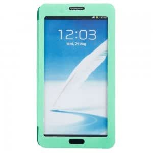 Plastic and PU Leather Touch Screen Protective Case with Oracle Pattern for Samsung Note3 Green