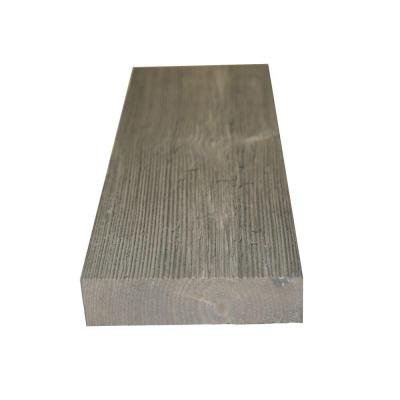 [1 in. x 4 in. x 8 ft. Barn Grey #2 and Better Pine Windswept Trim Board (9-Piece/Box)] (S4s Dimensional Lumber)