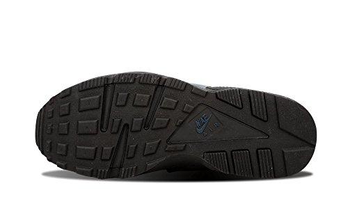 Mens Nike Air Huarache Hardlopen Hardloopschoenen - 704830 004, Zwart / Squadron Blauw-sqdrn Blauw - Maat 12.5 D (m) Us