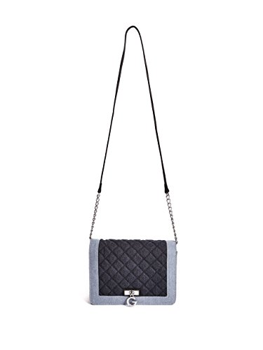 G by GUESS Women's Otis Quilted Denim Chain-Strap Crossbody Bag
