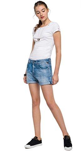 Azul Mujer Cortos Para mid Jeansshort Pantalones Replay 10 Blue qRXzx