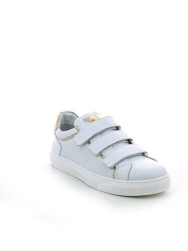 Traforata Sneaker Strappi Pelle in con 37 N Bianca qXX6wzxgr