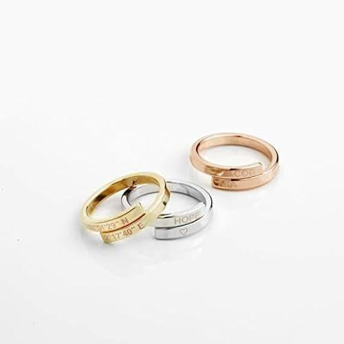 Amazon.com: Custom Initials Ring Best Friend Rings Name