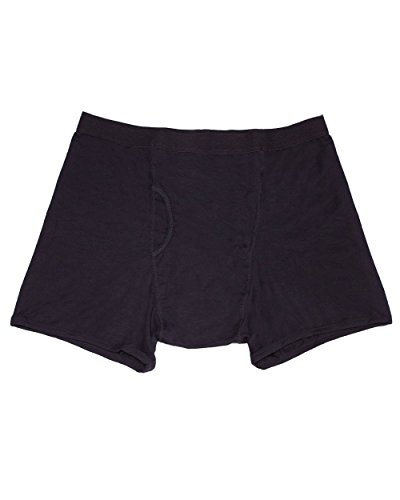(iHeartRaves Men's Black Stash Boxer Briefs - Secret Pocket Underwear (Medium))