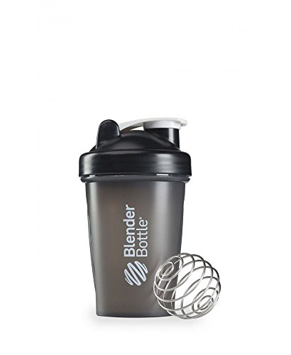 [20 OZ. Blender Bottle Classic Shaker Cup with Loop Top FULL COLORS (Full Black)] (Costume Caviar)