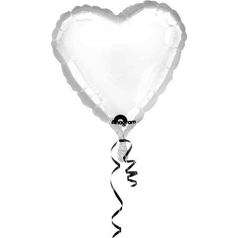 Anagram International Heart Foil-Flat-Balloon, 18