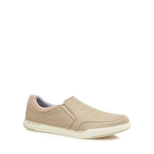 Clarks Men Natural Canvas 'Step Isle' Slip-On Shoes outlet deals get to buy cheap price fast delivery sale online cheap best place discount 2014 new iroSF6u