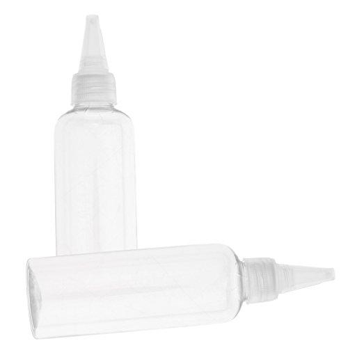 100ml Transparente 2 Recipientes Tubo Crema Unidades Botella Loción Estuche Blanca B Plástico Gorra Blesiya De 6BnTxwWCPq