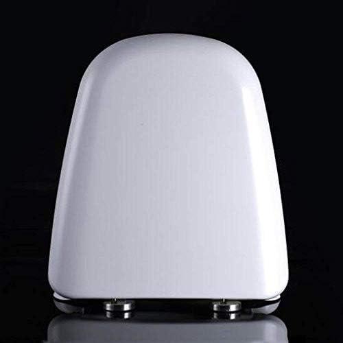 S-優雅な便座Tスタイルトイレ蓋、抗菌性尿素ホルムアルデヒド樹脂1秒分解トイレカバー、ホワイト