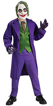 Batman The Dark Knight Deluxe The Joker Costume, Child's Large (Dark Night Halloween Costumes)