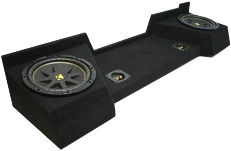 Extended Cab Subwoofer Enclosure - ASC Package Chevy Silverado 07-12 Extended Cab Truck Dual 12