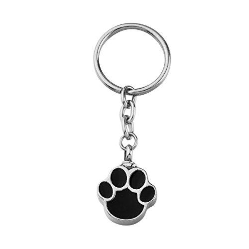 VALYRIA Memorial Jewelry Pet Paw Keychain Waterproof Urn Keepsake Charm (Paw Pet Charms)