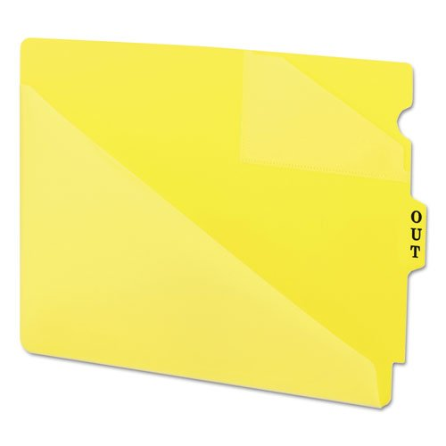 - Smead 61966 Out Guides w/Diagonal-Cut Pockets Poly Letter Yellow 50/Box