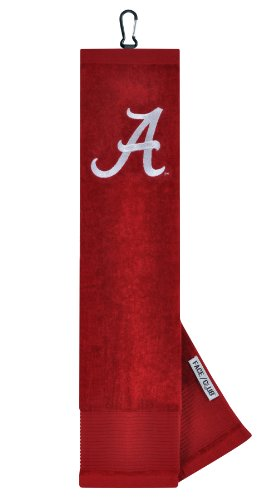 Alabama Crimson Tide Face/Club Embroidered Towel