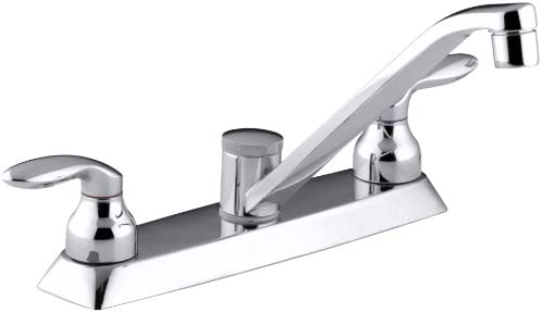 KOHLER K-15251-4-CP Coralais Kitchen Sink Faucet, Polished Chrome