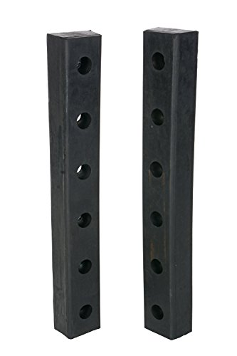 Vestil DBE-30-2 Rubber Hardened Molded Bumper, Rectangular, Vertical Mount, 30'' Length, 4-1/2'' Width, 3'' Depth (Pack of 2) by Vestil