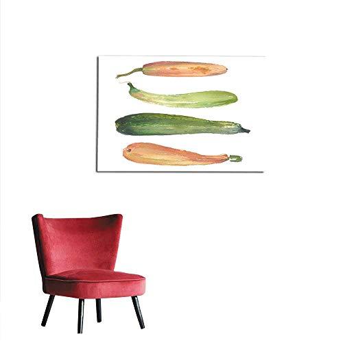 All of better Photographic Wallpaper Watercolor Squash Vegetable Illustration for Fresh icon Design Poster for Restaurant Banner for Vegan Shop Market Mural 36