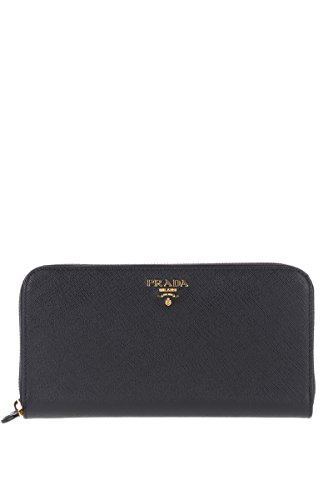 Prada Women's 1Ml506qwaf0002 Black Leather Wallet