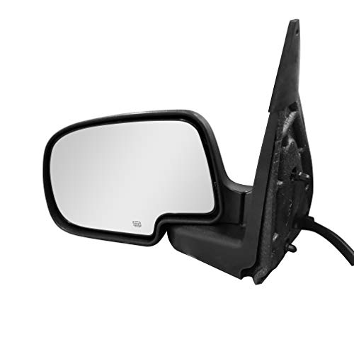 Left Driver Side Mirror for Cadillac Escalade Chevy Avalanche Silverado Suburban HD Tahoe GMC Sierra Yukon XL 1500 2500 3500 (2003 2004 2005 2006 2007) Textured Heated Folding Replacement Door Mirror ()