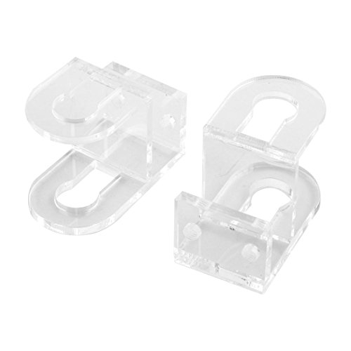 uxcell Acrylic Aquarium Hose Holder Fish Tank Tube Clamp Water Pipe Fixing Clip 2pcs Clear
