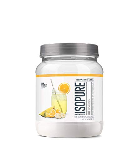 """ISOPURE INFUSIONS, Refreshingly Light Fruit Flavored Whey Protein Isolate Powder, """"Shake Vigorously & Infuses in a Minute"""", Pineapple Orange Banana, 16 Servings"""