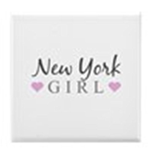 CafePress - New York Girl - Tile Coaster, Drink Coaster, Small Trivet