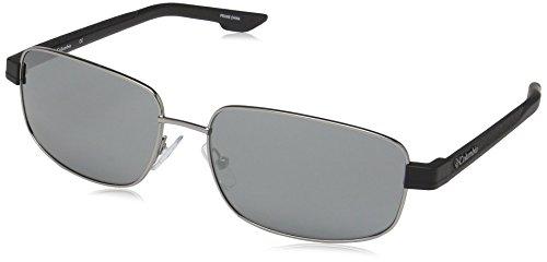 Columbia Men's Cliff Haven Rectangular Sunglasses, Satin Gunmetal/Smoke, 59 mm