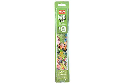 Wild Republic Fairy Figurines Tube, Fairy Toys, Ten Fairy Figures with Five Different Poses All with Different Hair and Outfit Colors (Small Figurines Fairy)