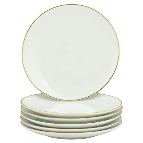 10 Strawberry Street CPGL00046 Coupe Gold Line Salad Plate,