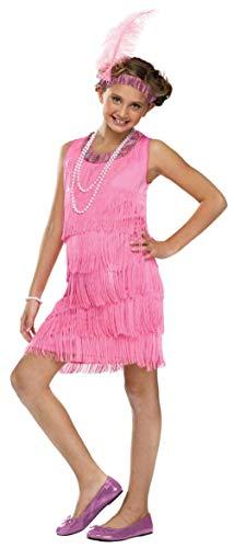 Child Roaring 20s Pink Flapper Costume -