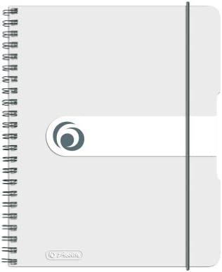 Herlitz Spiralblock / Collegeblock / DIN A5 / kariert / 80 Bl / transparent + LED Touchpen Kugelschreiber
