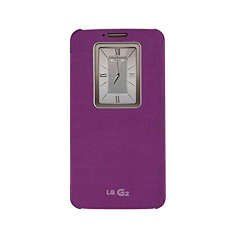 LG Electronics LG G2 QuickWindow Convenient Flip Folio Case - VIOLET Purple (Att Lg G2 Phone)