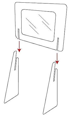 MAMP001 Pantalla de Protección de cartón foam, para mostrador de ...