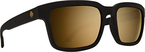 Helm 2 Matte Black - HD Plus Bronze with Gold Spectra Mirror (Spy Wayfarer)